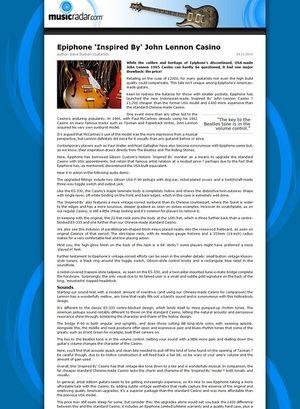 MusicRadar.com Epiphone 'Inspired By' John Lennon Casino