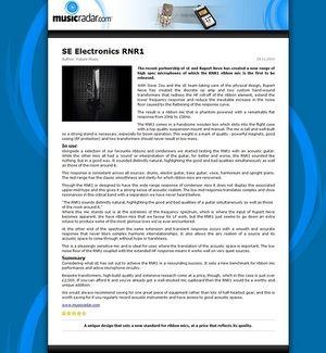 MusicRadar.com SE Electronics RNR1