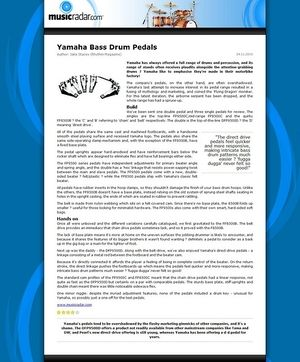MusicRadar.com Yamaha Bass Drum Pedals