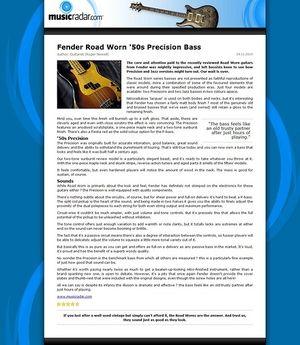MusicRadar.com Fender Road Worn '50s Precision Bass