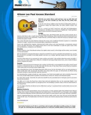 MusicRadar.com Gibson Les Paul Axcess Standard