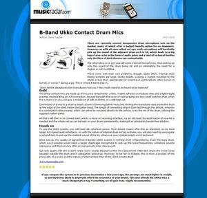 MusicRadar.com B-Band Ukko Contact Drum Mics