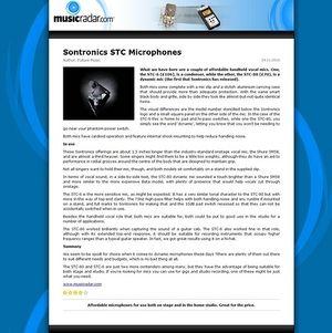 MusicRadar.com Sontronics STC Microphones
