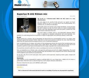 MusicRadar.com Superlux R-102 Ribbon mic