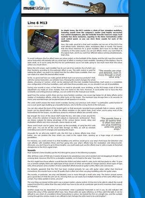 MusicRadar.com Line 6 M13