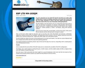 MusicRadar.com ESP LTD MH-103QM