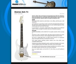 MusicRadar.com Ibanez Jem 7v