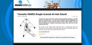 MusicRadar.com Yamaha HS650 Single braced Hi-Hat Stand
