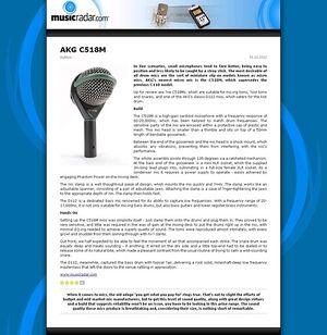 MusicRadar.com AKG C518M