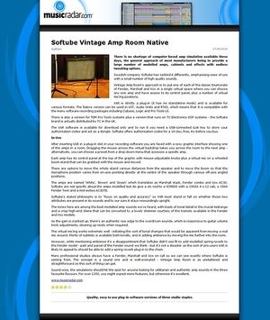 MusicRadar.com Softube Vintage Amp Room Native