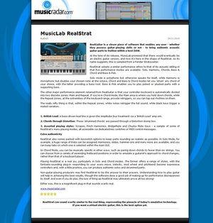 MusicRadar.com MusicLab RealStrat