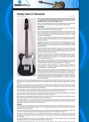 MusicRadar.com Fender John 5 Telecaster