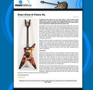 MusicRadar.com Dean Dime-O-Flame ML