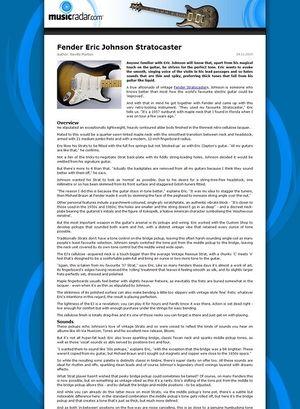 MusicRadar.com Fender Eric Johnson Stratocaster