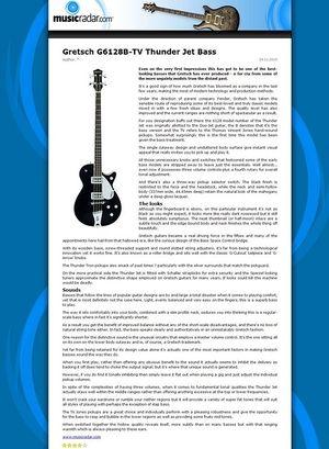 MusicRadar.com Gretsch G6128B-TV Thunder Jet Bass