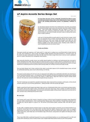 MusicRadar.com LP Aspire Accents Series Bongo Set