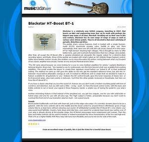 MusicRadar.com Blackstar HT-Boost BT-1
