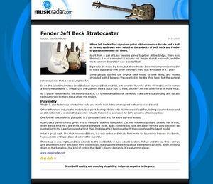 MusicRadar.com Fender Jeff Beck Stratocaster
