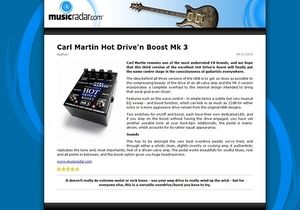 MusicRadar.com Carl Martin Hot Drive'n Boost Mk 3