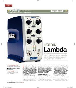 Computer Music LEXICON Lambda