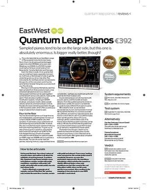 Computer Music Quantum Leap Pianos