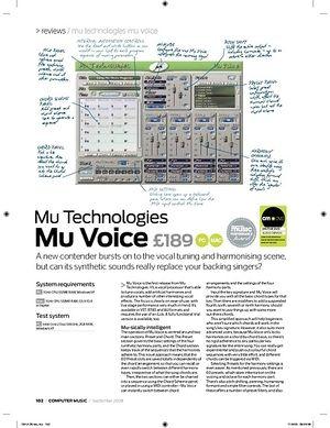 Computer Music Mu Technologies Mu Voice