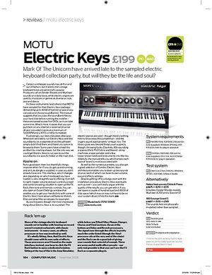 Computer Music MOTU Electric Keys