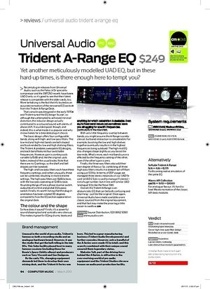 Computer Music Trident ARange EQ