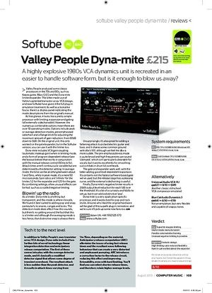 Computer Music Softube Valley People Dynamite