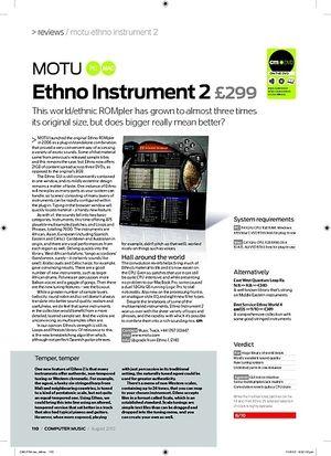 Computer Music MOTU Ethno Instrument 2