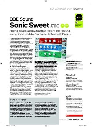 Computer Music BBE Sound Sonic Sweet