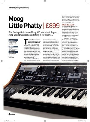 Future Music Moog Little Phatty