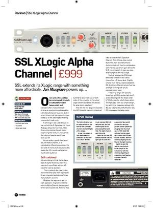 Future Music SSL XLogic Alpha Channel