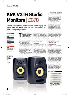 Future Music KRK VXT6