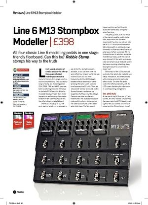 Future Music Line 6 M13 Stompbox Modeller