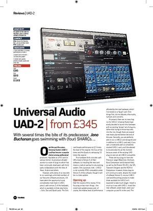 Future Music Universal Audio UAD2