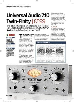 Future Music Universal Audio 710 TwinFinity