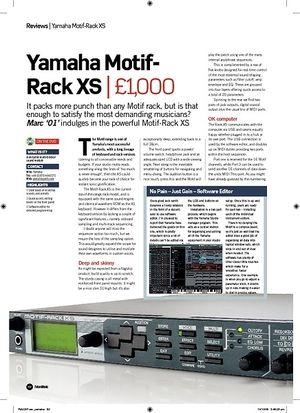 Future Music Yamaha MotifRack XS