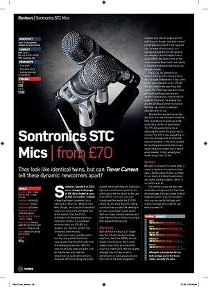 Future Music Sontronics STC Mics