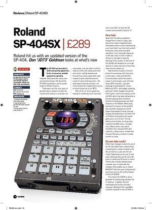 Future Music Roland SP404SX