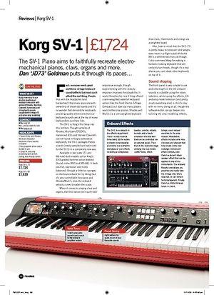 Future Music Korg SV1