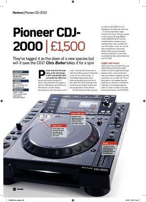 Future Music Pioneer CDJ2000