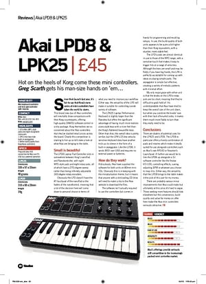 Future Music Akai LPK25