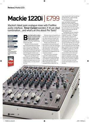 Future Music Mackie 1220i