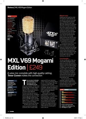 Future Music MXL V69 Mogami Edition