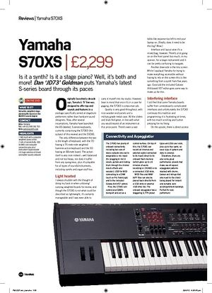 Future Music Yamaha S70XS