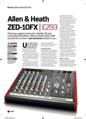 Future Music Allen and Heath ZED10FX