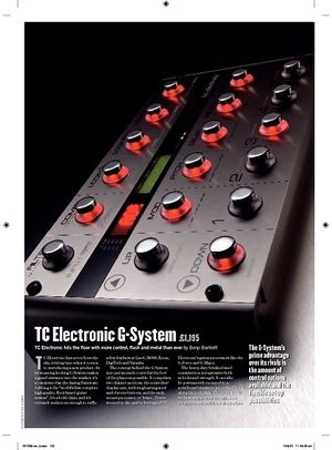 Guitarist TC Electronic G-System