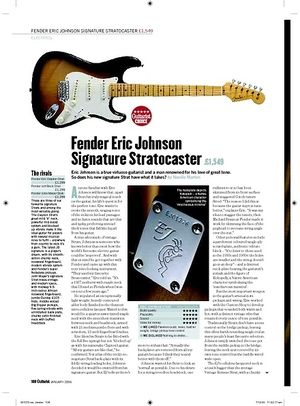 Guitarist Fender Eric Johnson Signature Stratocaster