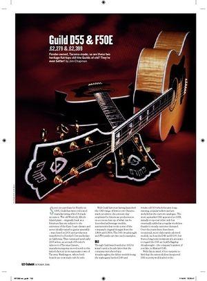 Guitarist Guild D55